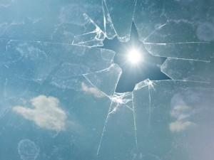 Broken Glass Thermal Stress
