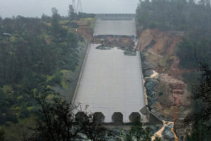 The California Department of Water Resources stopped the spillway flow on Thursday morning to allow engineers to evaluate the integrity of the structure after water had been released at 20,000 cubic feet per second through the night.