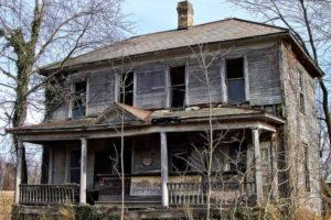 A deteriorating home